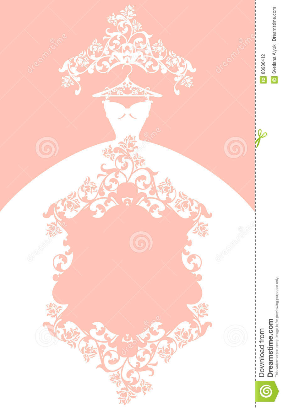 Wedding Dress Pastel Colored Vector Design Stock Vector