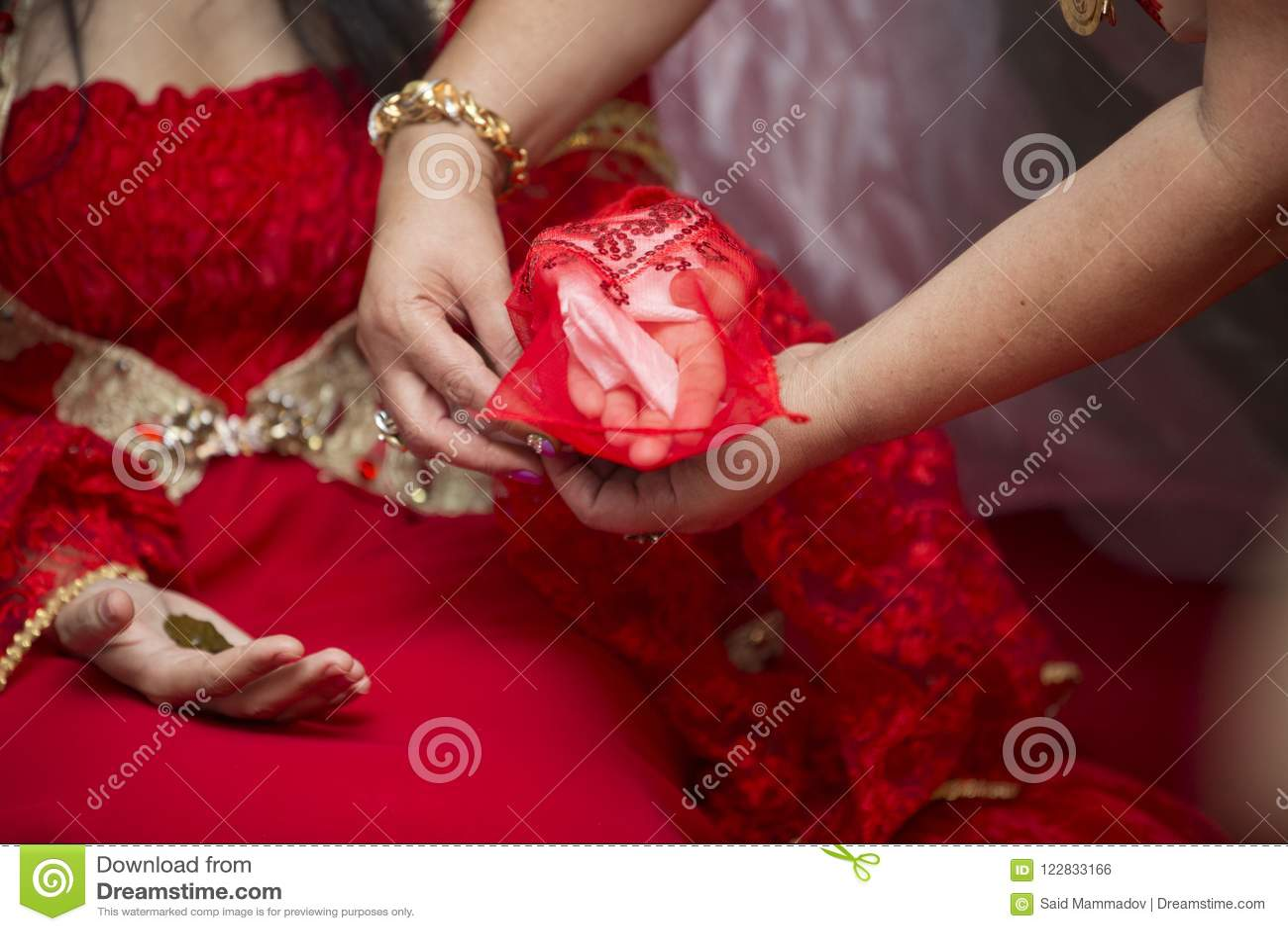 Wedding Dress Wedding Rings Wedding Bouquet Stock Photo Image