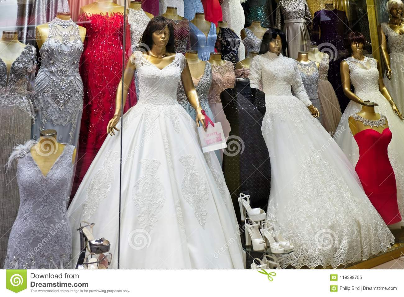 979cf32b196 Wedding Dress For Sale In The Grand Bazaar In Istanbul Editorial ...