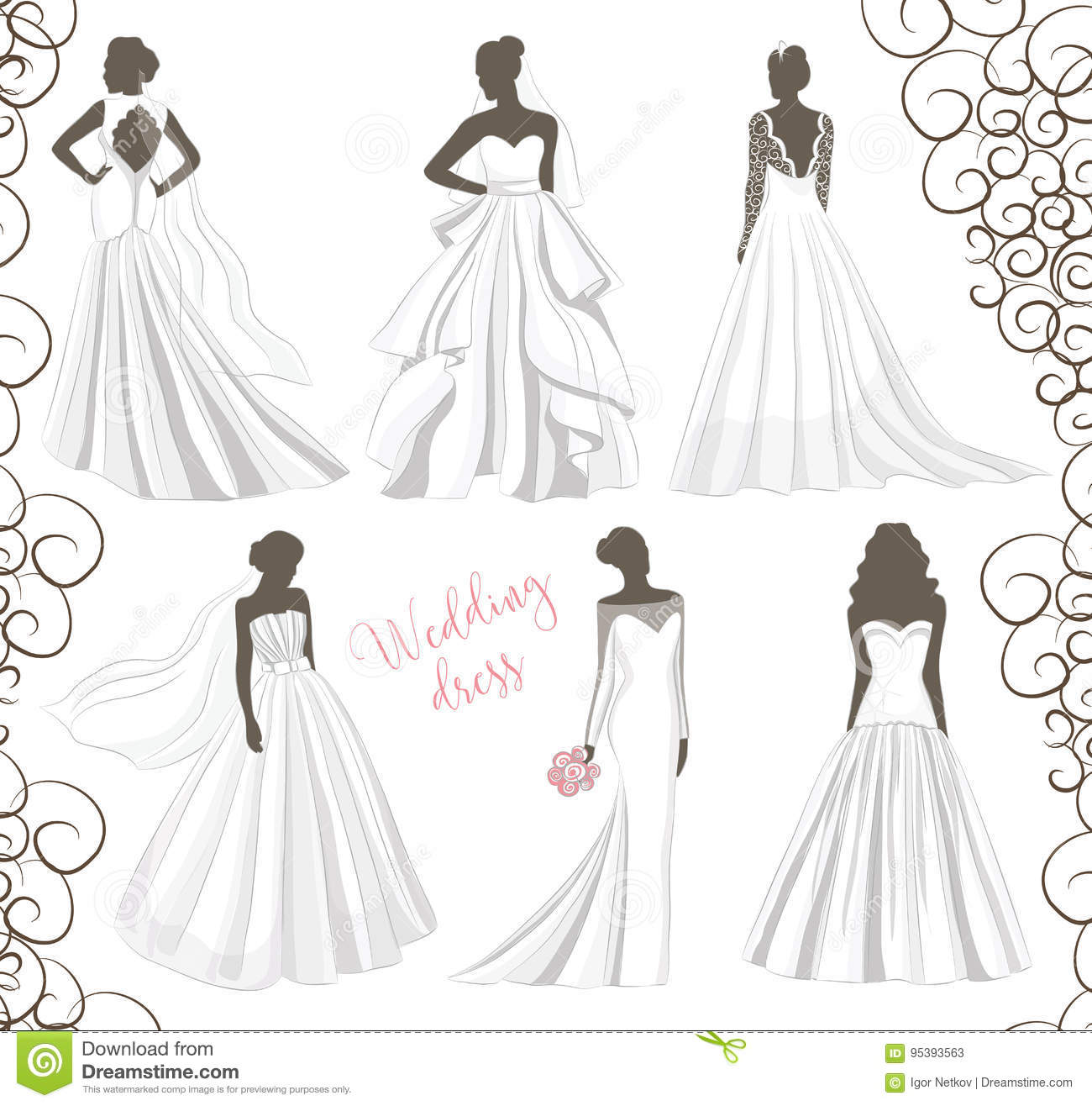 d22b8f58036 Wedding dresses in Different styles. Fashion bride Dress made in modern  style.