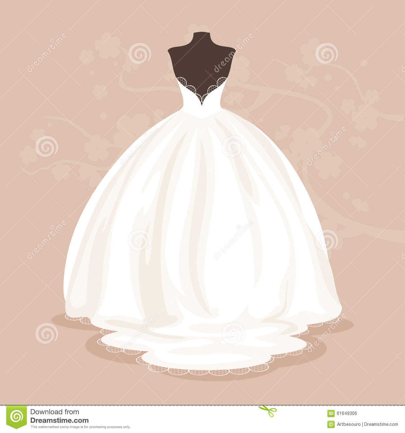 vector clipart wedding dress