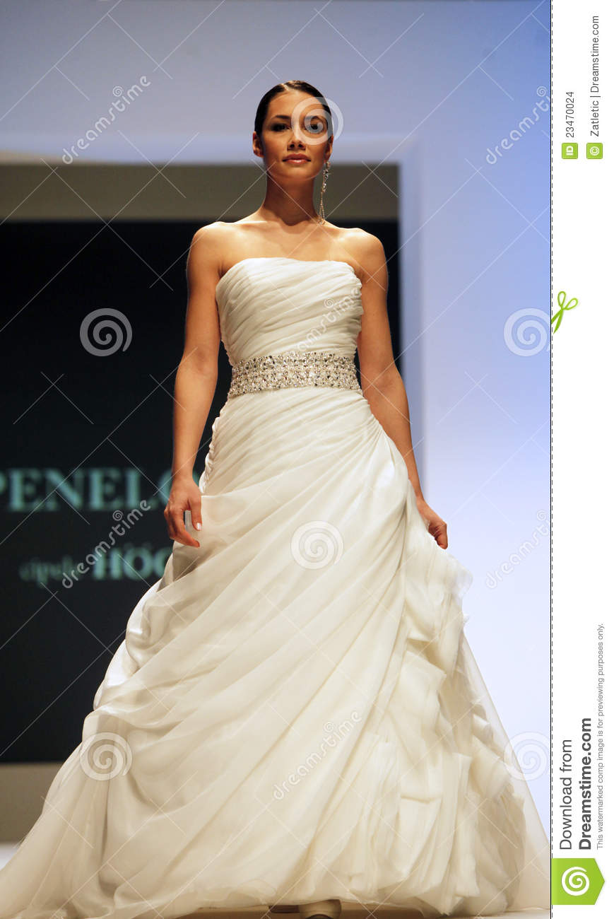 Wedding Dresses Fashion Show Editorial Stock Image - Image of design ...