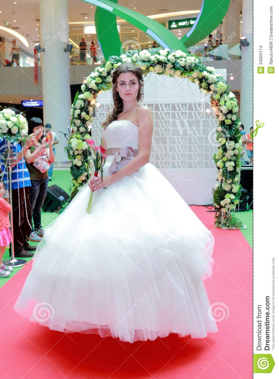 Wedding Dresses Fashion Show Editorial Stock Image - Image ...