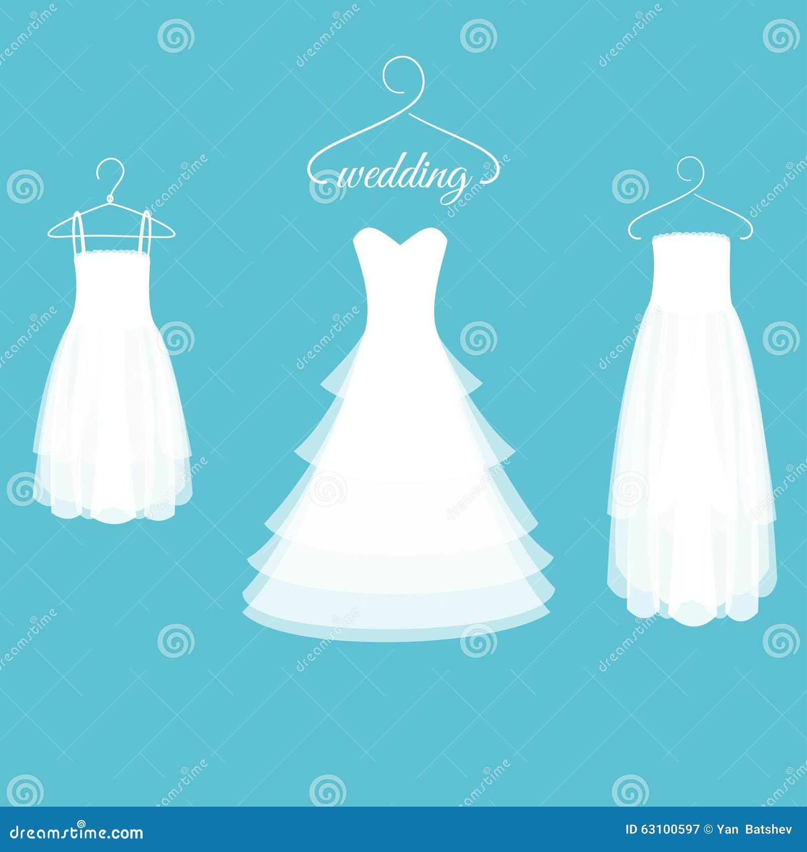 Wedding Dresses on Hangers stock vector. Illustration of element ...