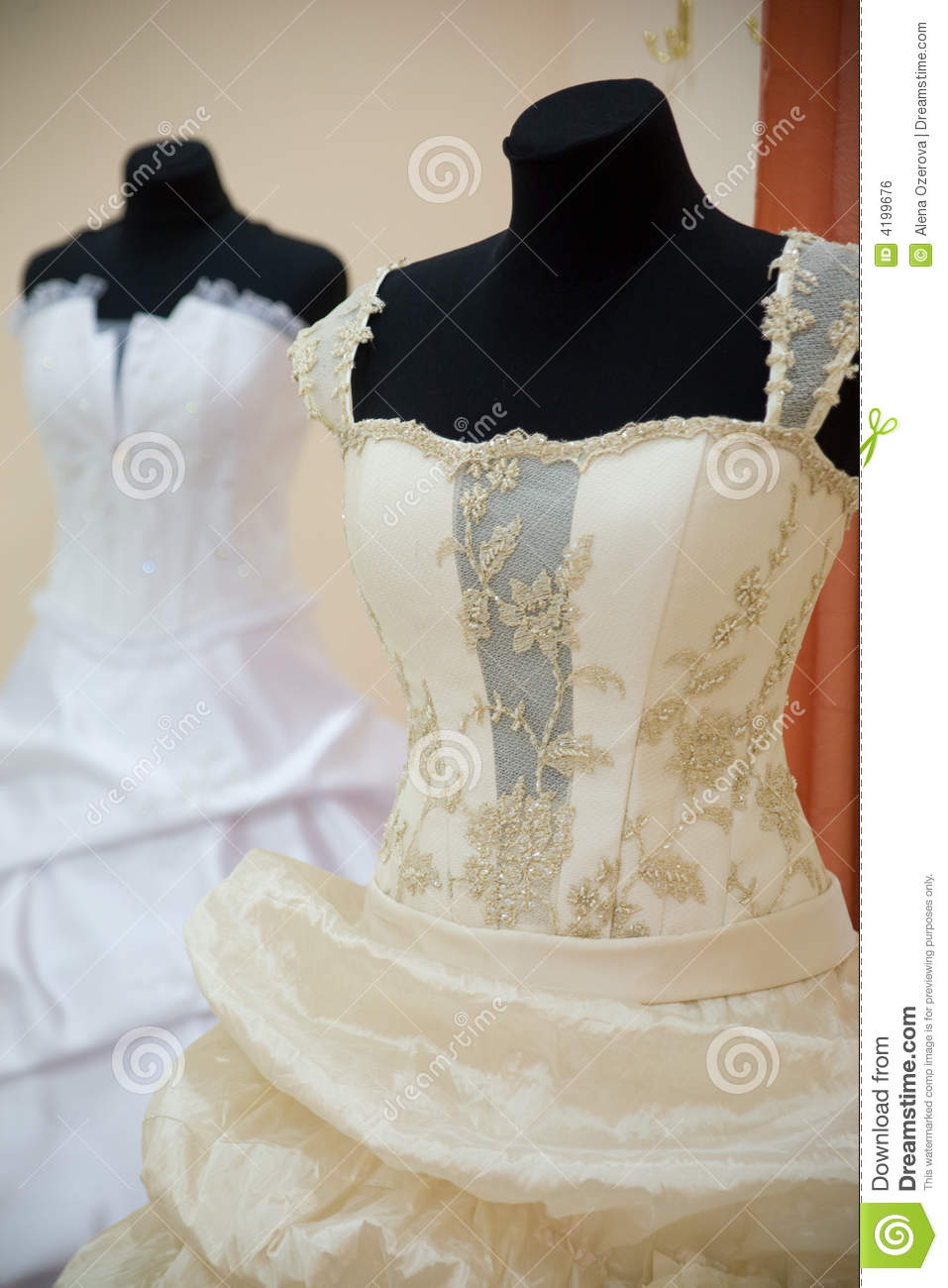 Wedding Dresses On Mannequins Royalty Free Stock Image ...