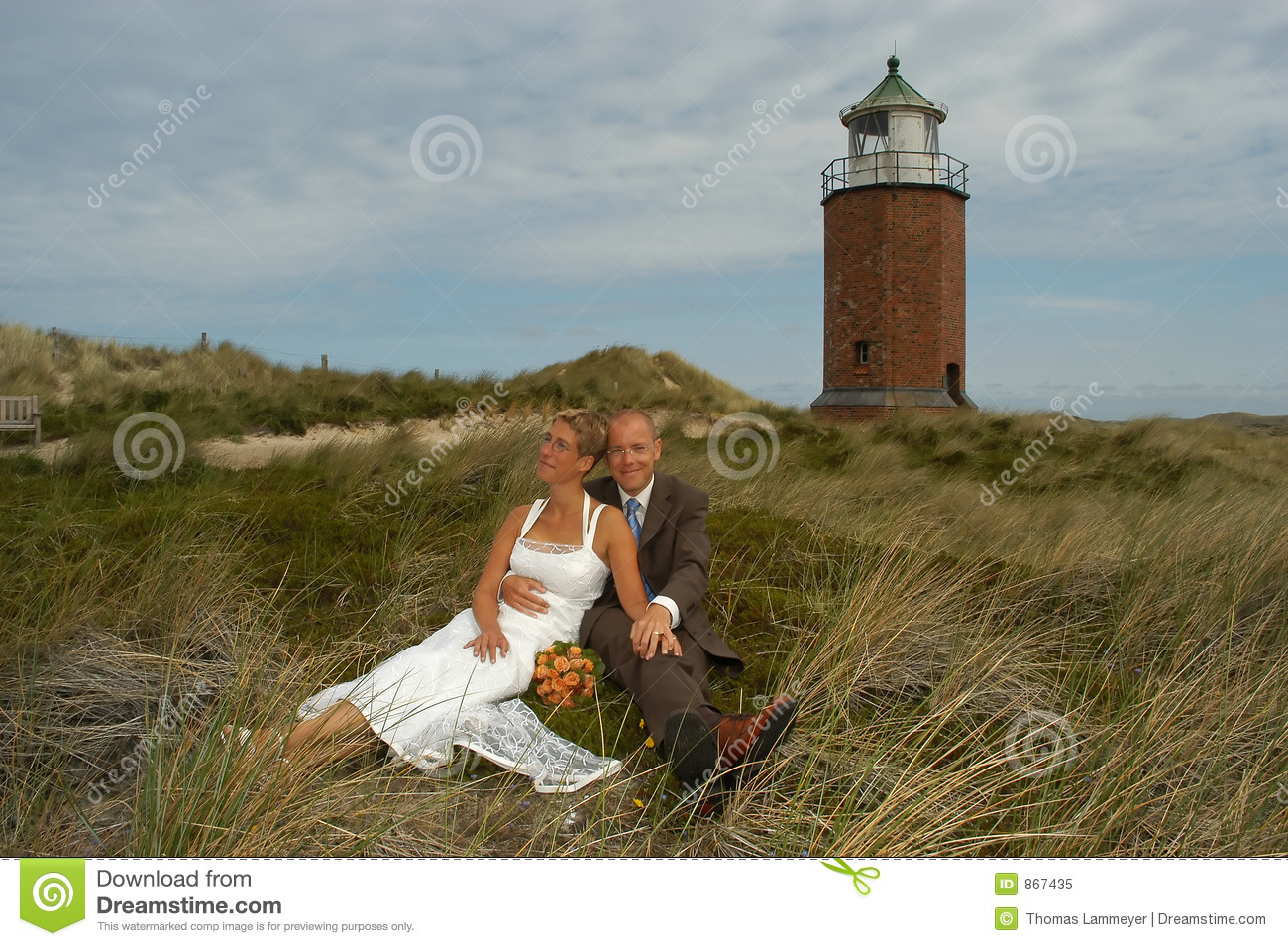 Download Wedding in the dunes stock image. Image of germany, lighthouse - 867435