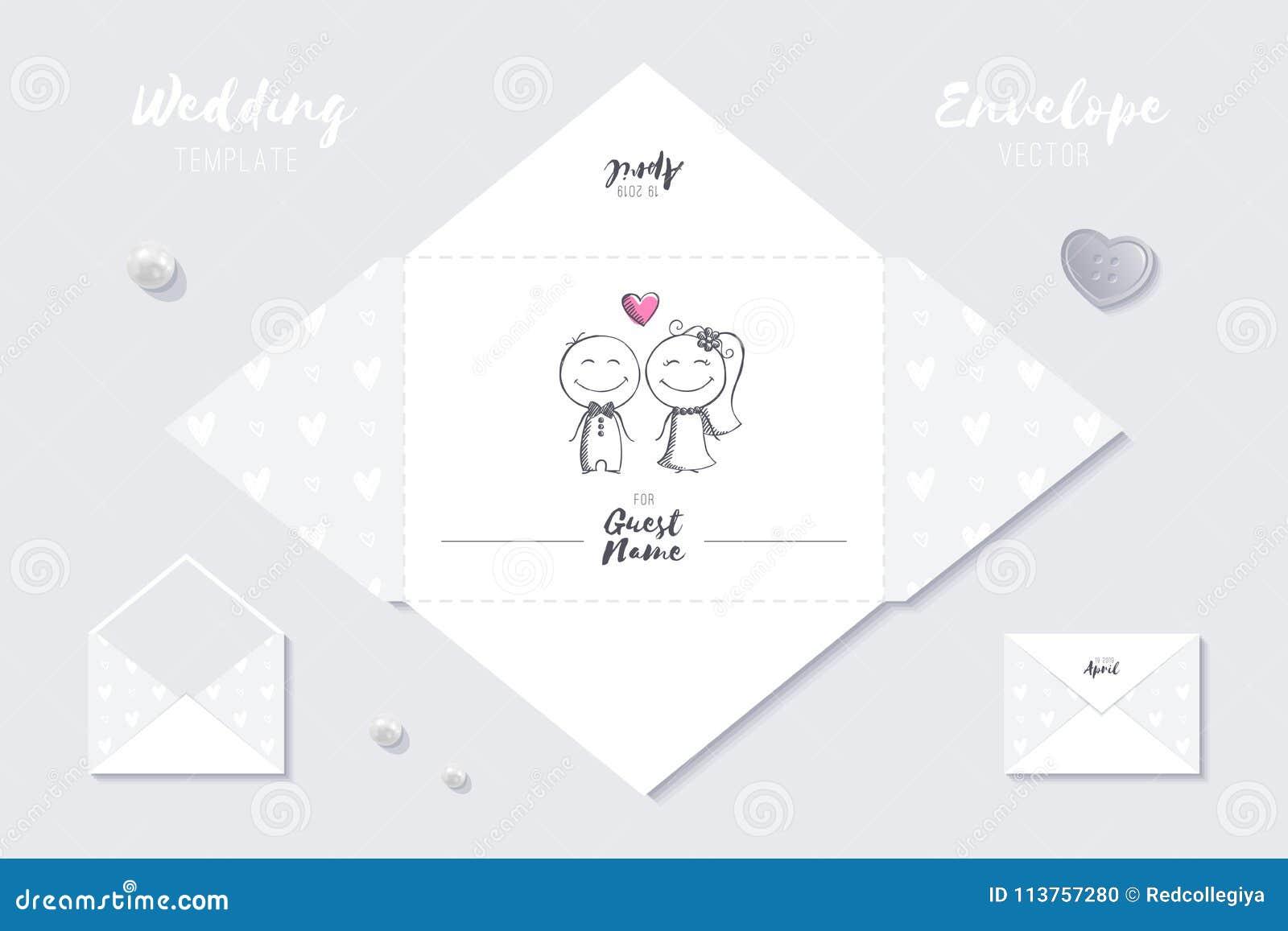 wedding template stock illustration illustration of envelope