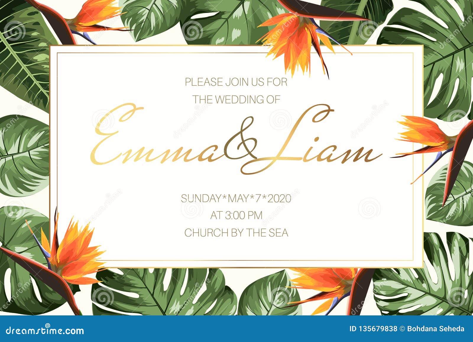 Rsvp Card Template   Wedding Event Invitation Rsvp Card Template Green Monstera