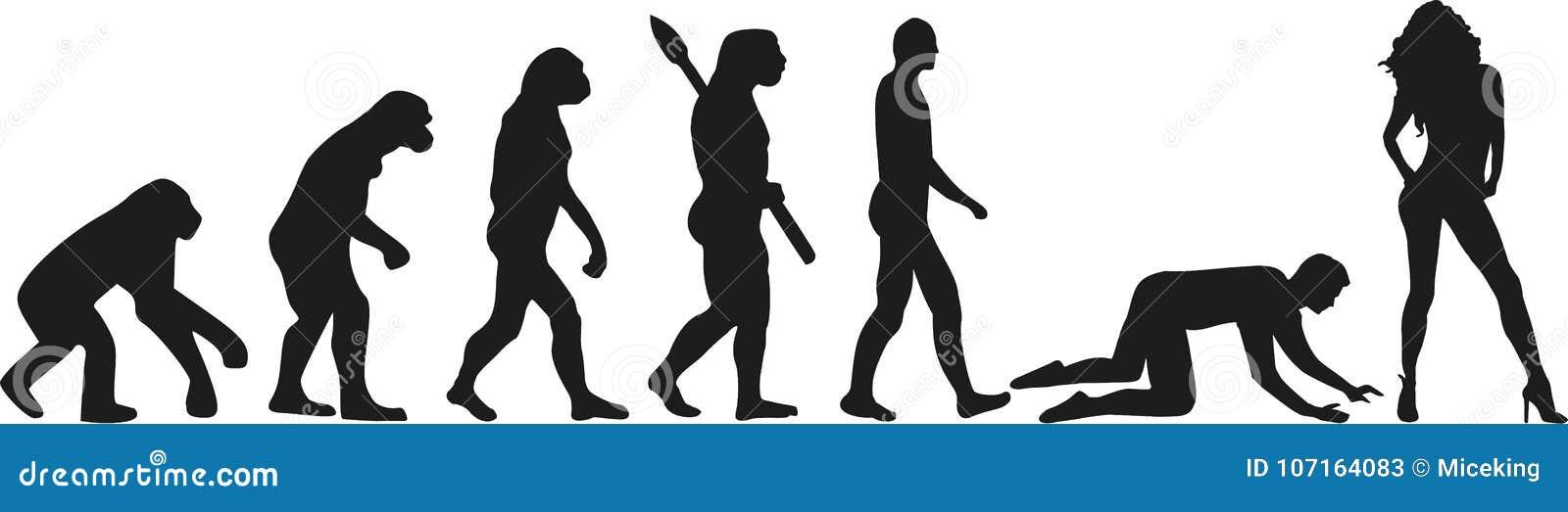 wedding evolution couple slave stock vector illustration of logo
