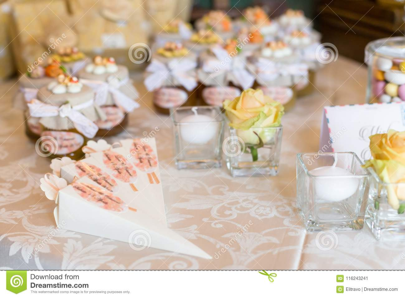 Wedding Guest Favors.Wedding Favors For Wedding Guest Stock Image Image Of Bridal