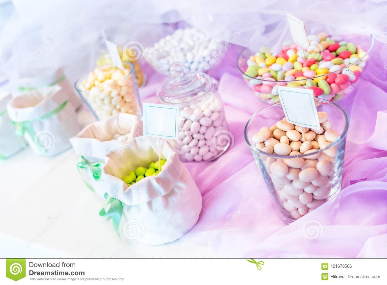 Wedding Favors And Sugar Almonds Stock Photo - Image of gift ...
