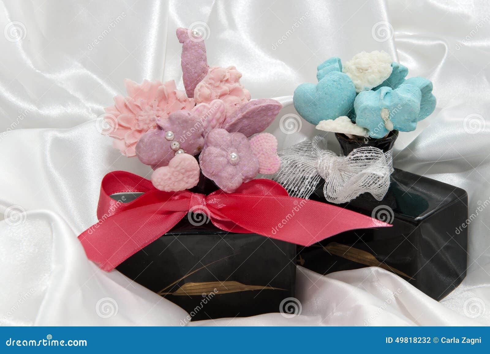 Wedding Fawors Whit Soap Flower Stock Photo - Image of homemade ...