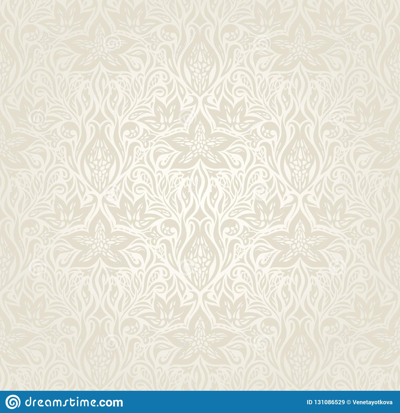 Wedding Pale Floral Pattern Wallpaper Background Design Stock