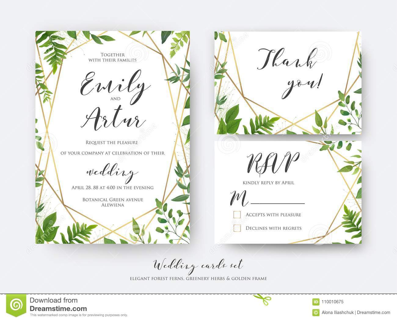 wedding floral invite  invitation  rsvp  thank you card