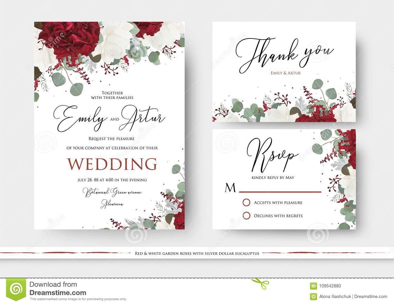 Wedding Floral Invite Save The Date Thank You Rsvp Card