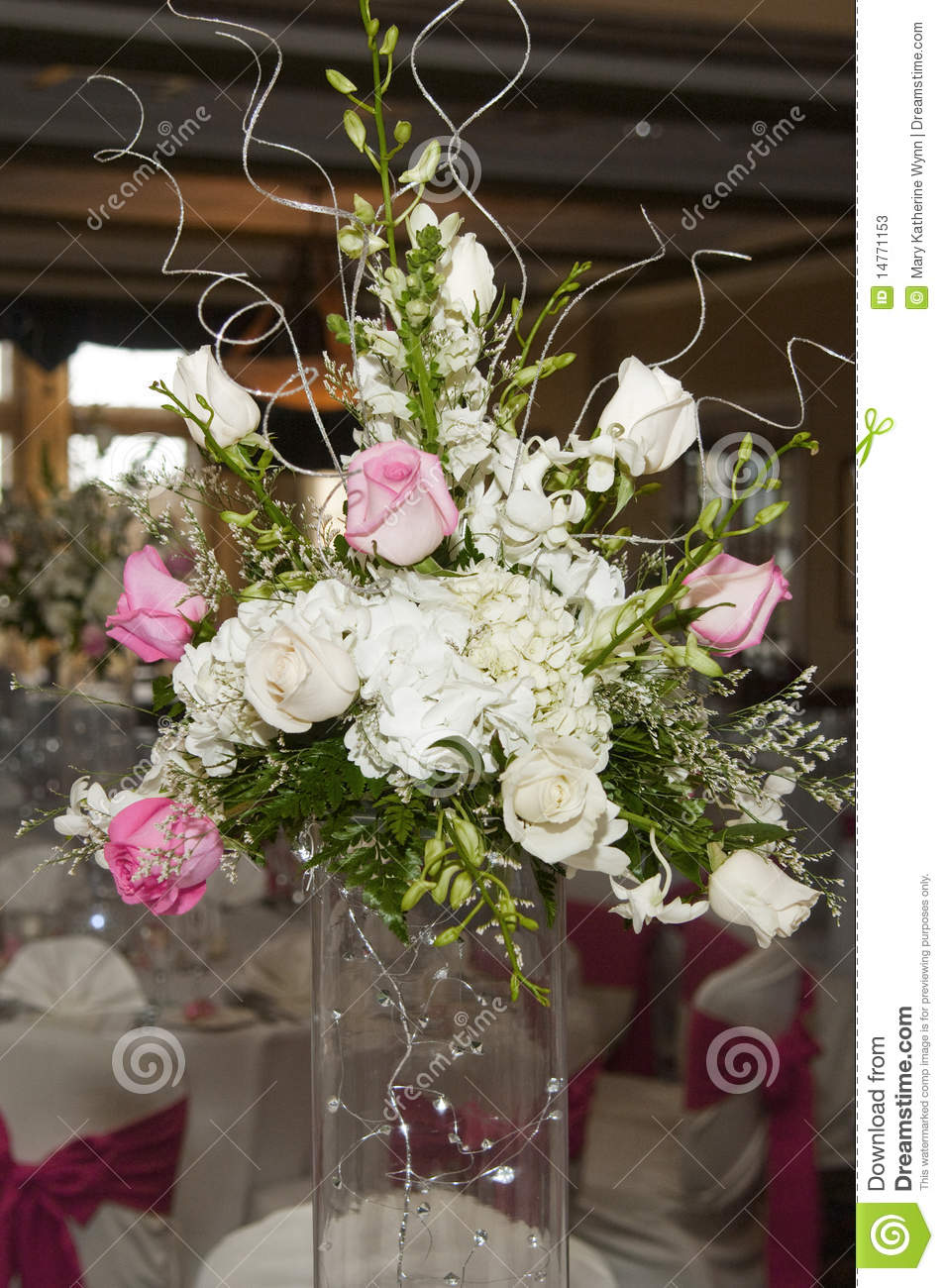 Wedding Floral Table Arrangement Stock Photos Image