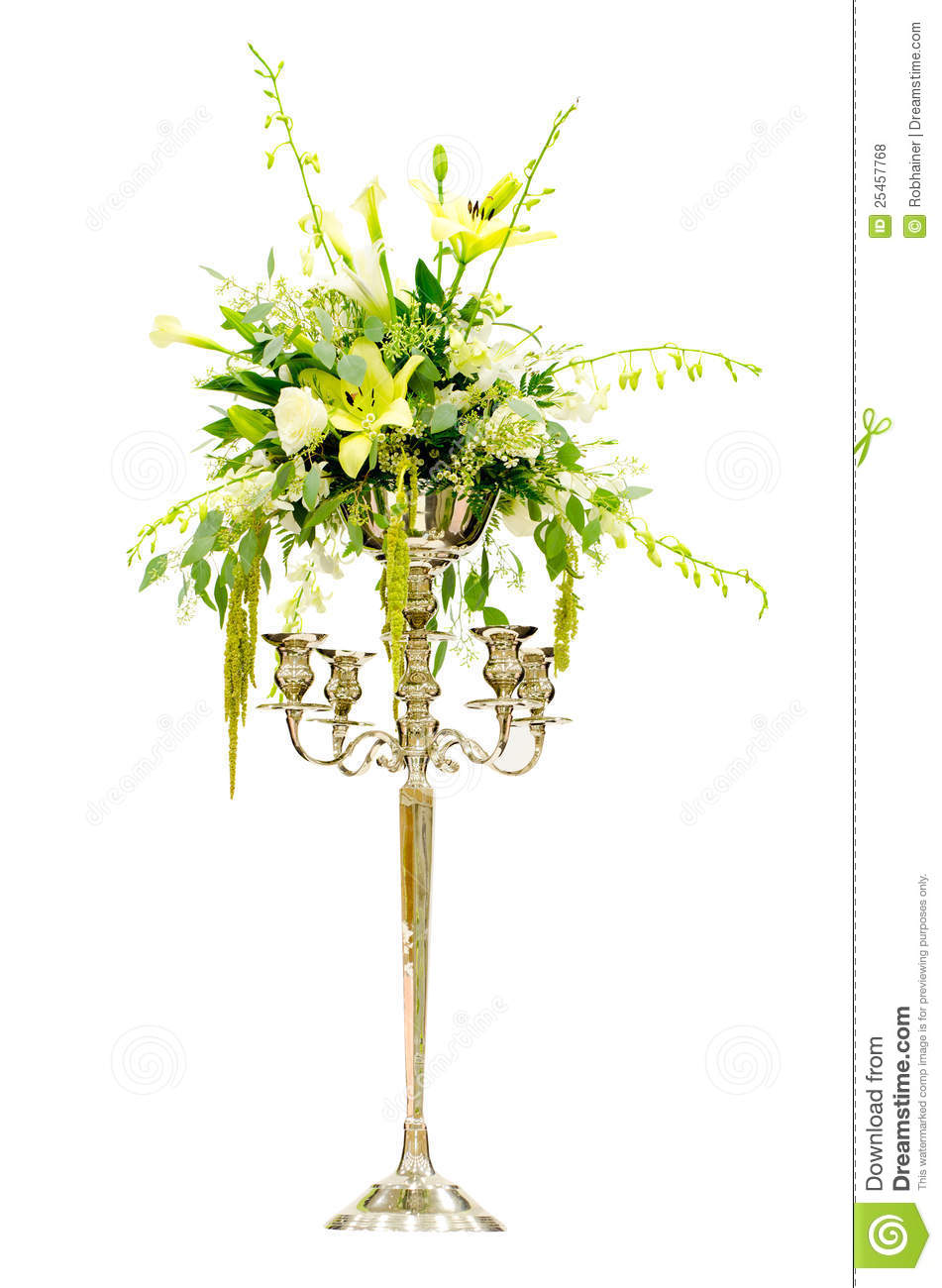 wedding flower arrangement centerpiece stock photo