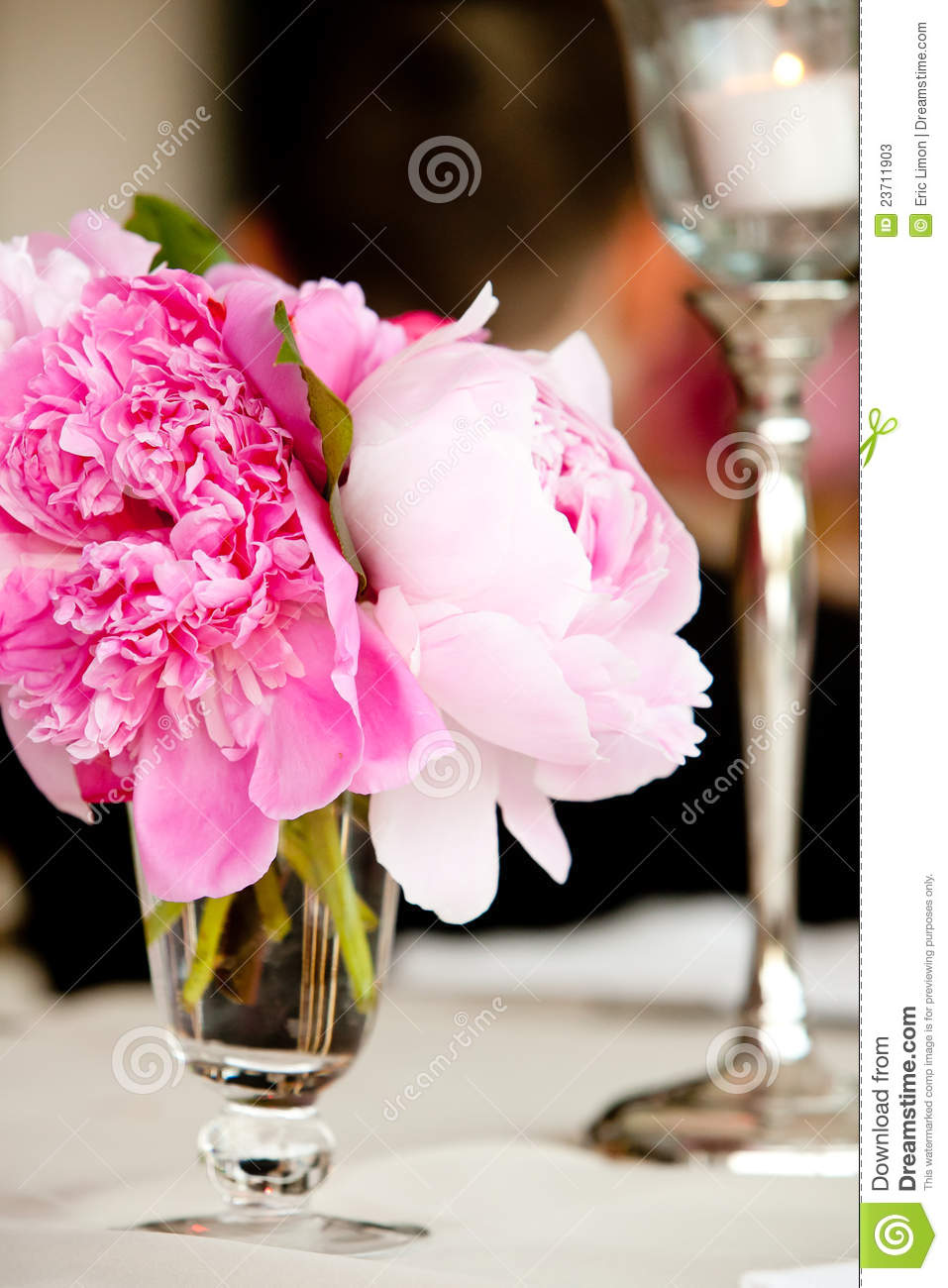 Wedding Flower Arrangement Table Setting Series Stock