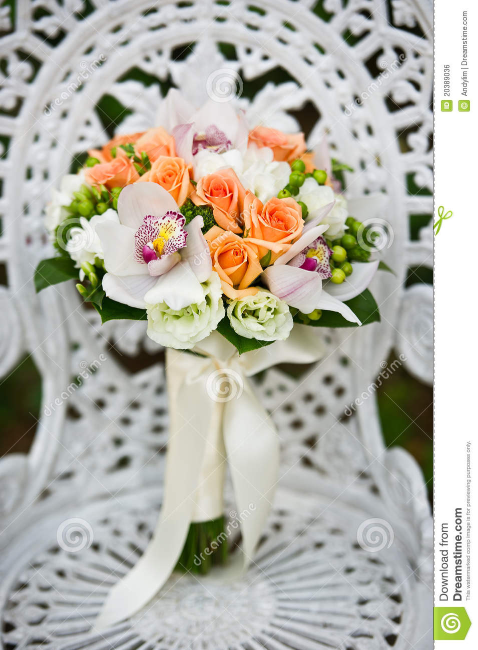 ... On A White Garden Chair Royalty Free Stock Image - Image: 20389036