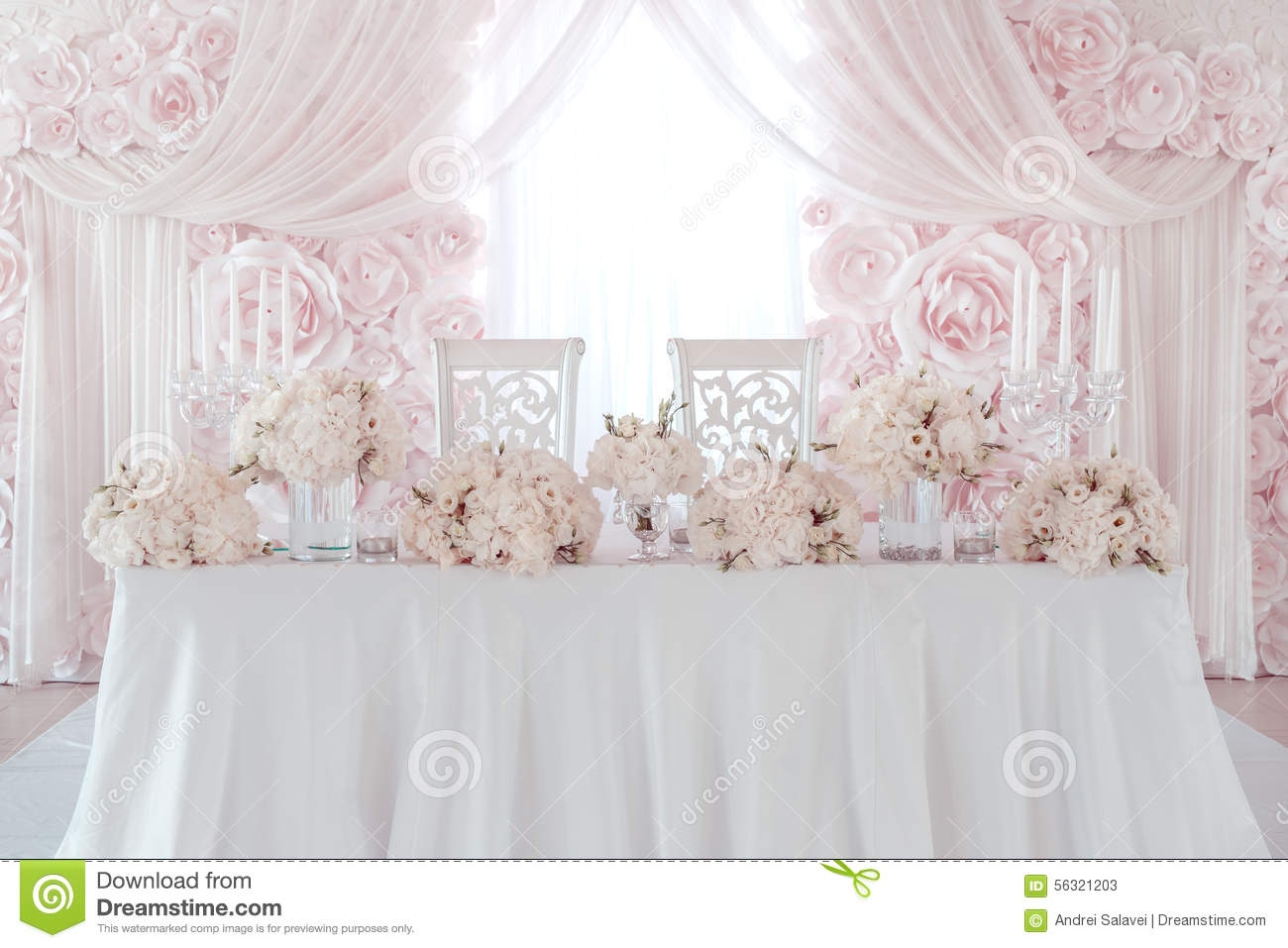 Wedding Flower Decoration Stock Photo Image 56321203