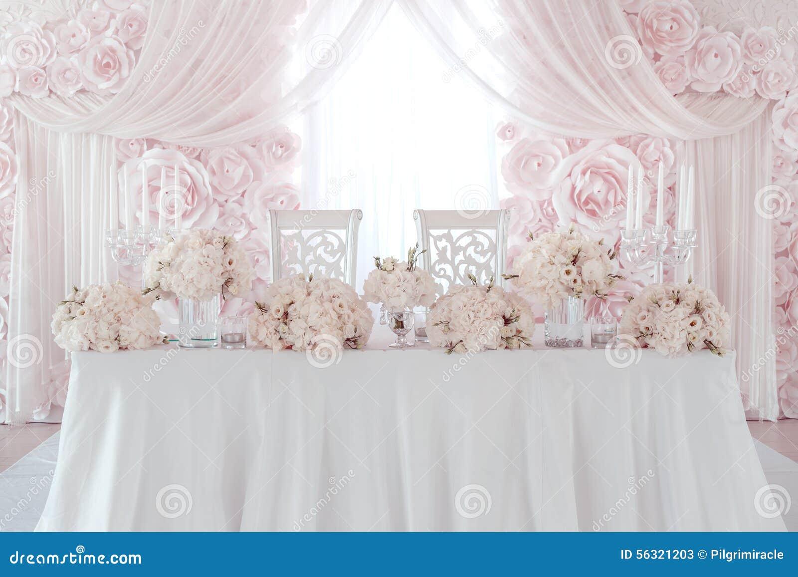 Wedding Flower Decoration Stock Photo - Image: 56321203