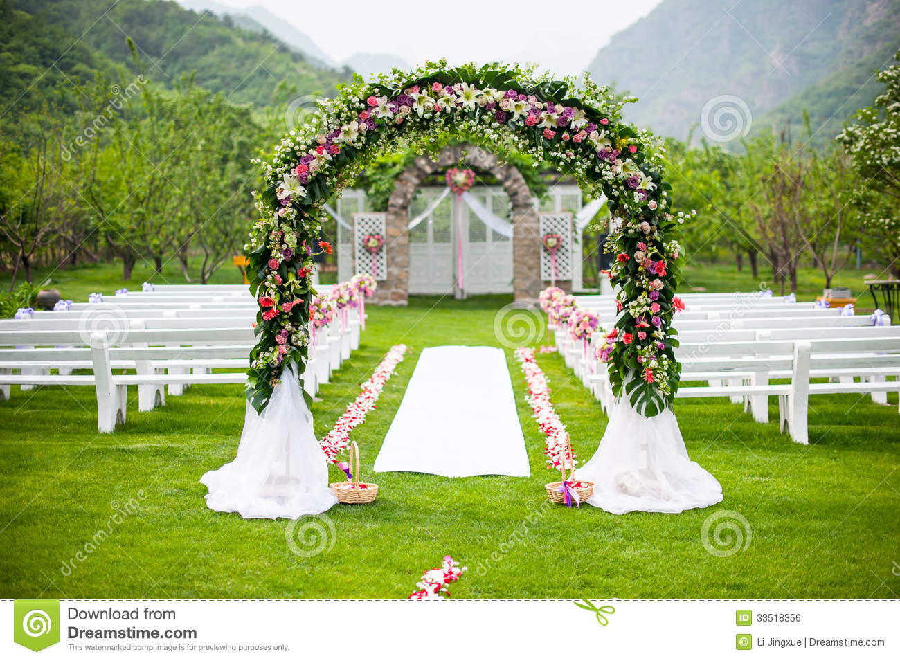 Wedding Flower Door Royalty Free Stock Image Image 33518356