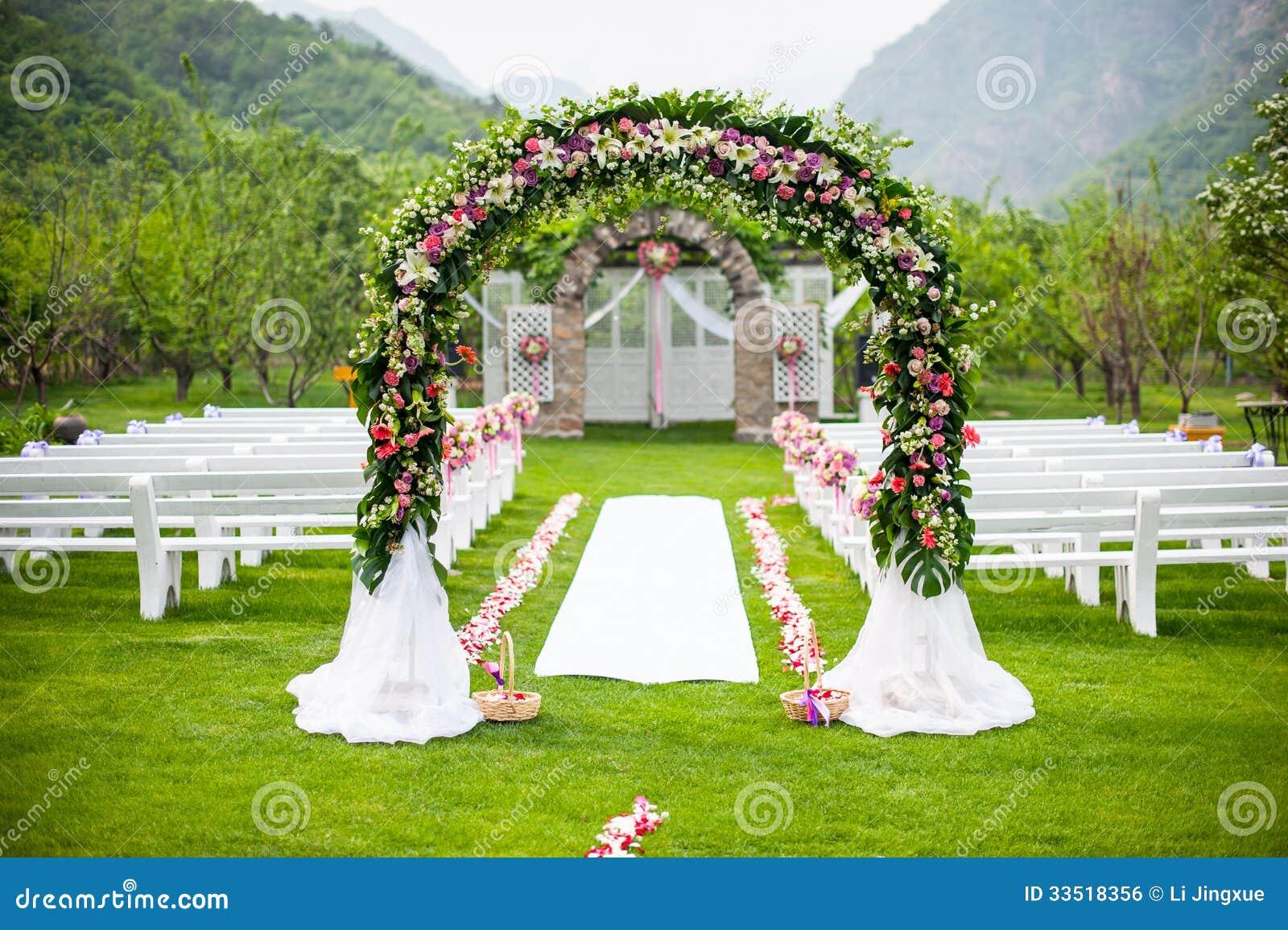 Wedding Flower Door Royalty Free Stock Image Image 33518356