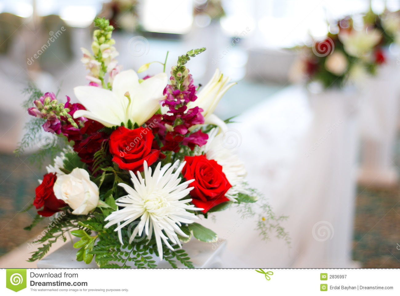 Download Wedding and flowers stock image. Image of path, marriage - 2836997