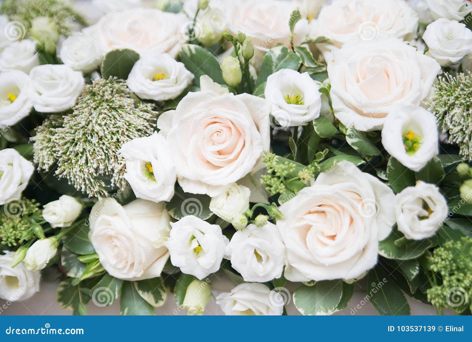 Wedding Flowers Background Decoration Marriage Stock Image