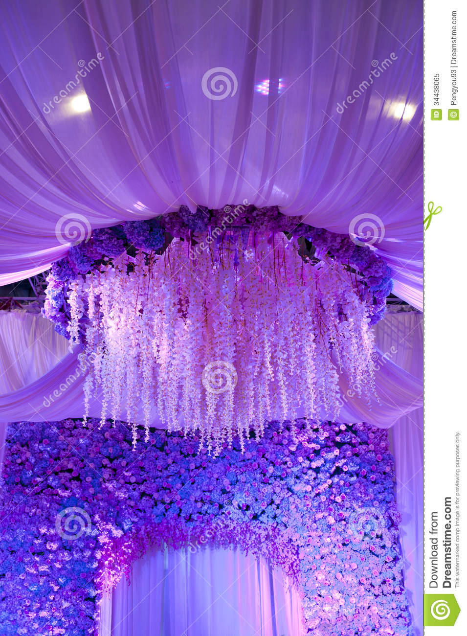 Wedding flowers background design stage royalty free stock for Background stage decoration