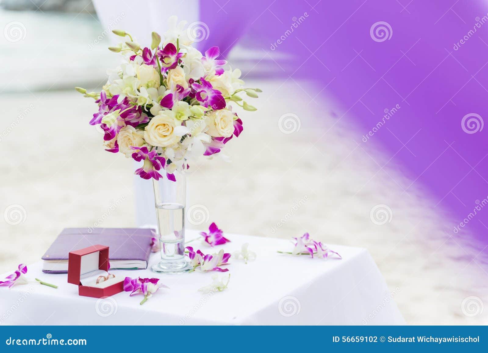 Wedding Flowers On Beach/wedding Venue Flowers Stock Photo - Image ...