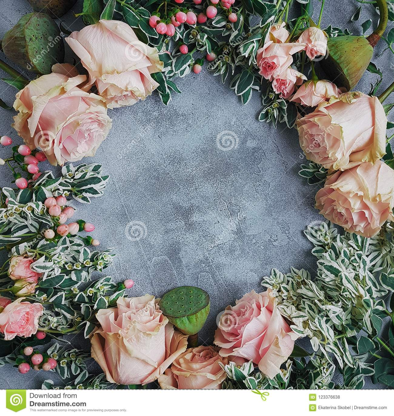Wedding Flowers Blog Style Flatlay Light Gray Background