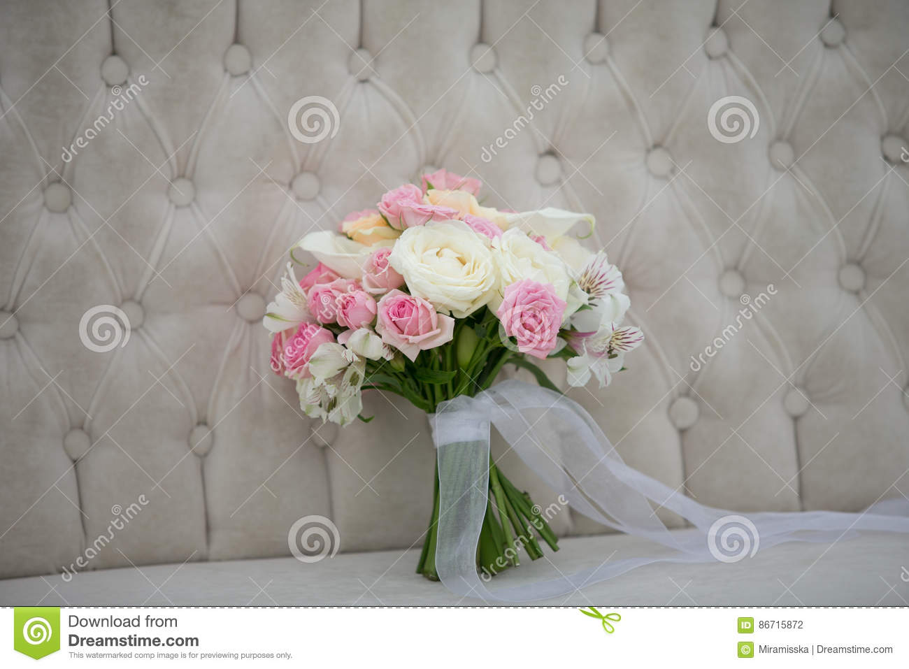 Wedding Flowers Bridal Bouquet Romantic Blooming Decor Decoration Banquet Stock Photo Image Of Bloom Beauty 86715872