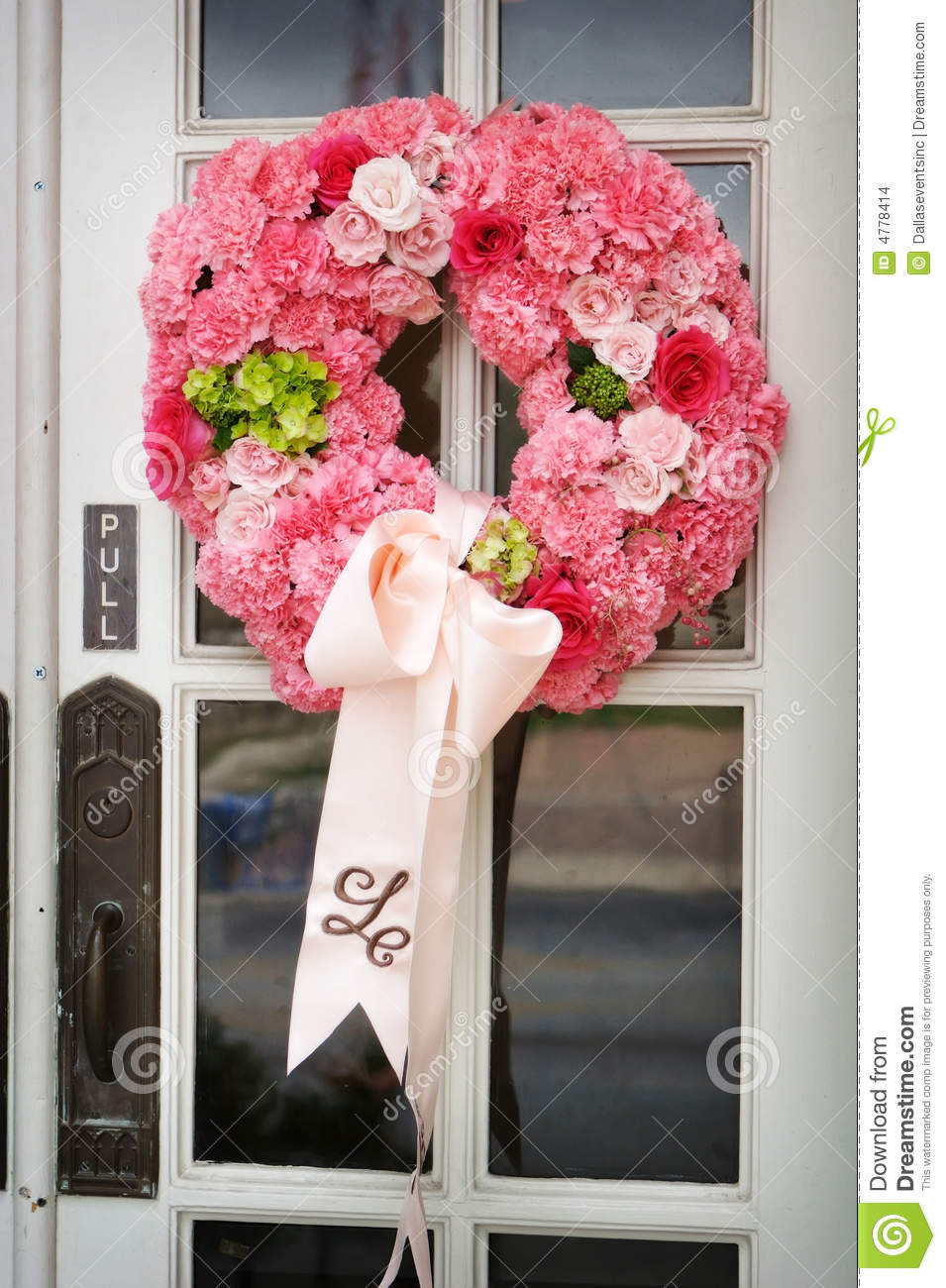 Wedding Flowers On The Front Door Of A Church Stock Photo - Image of ...
