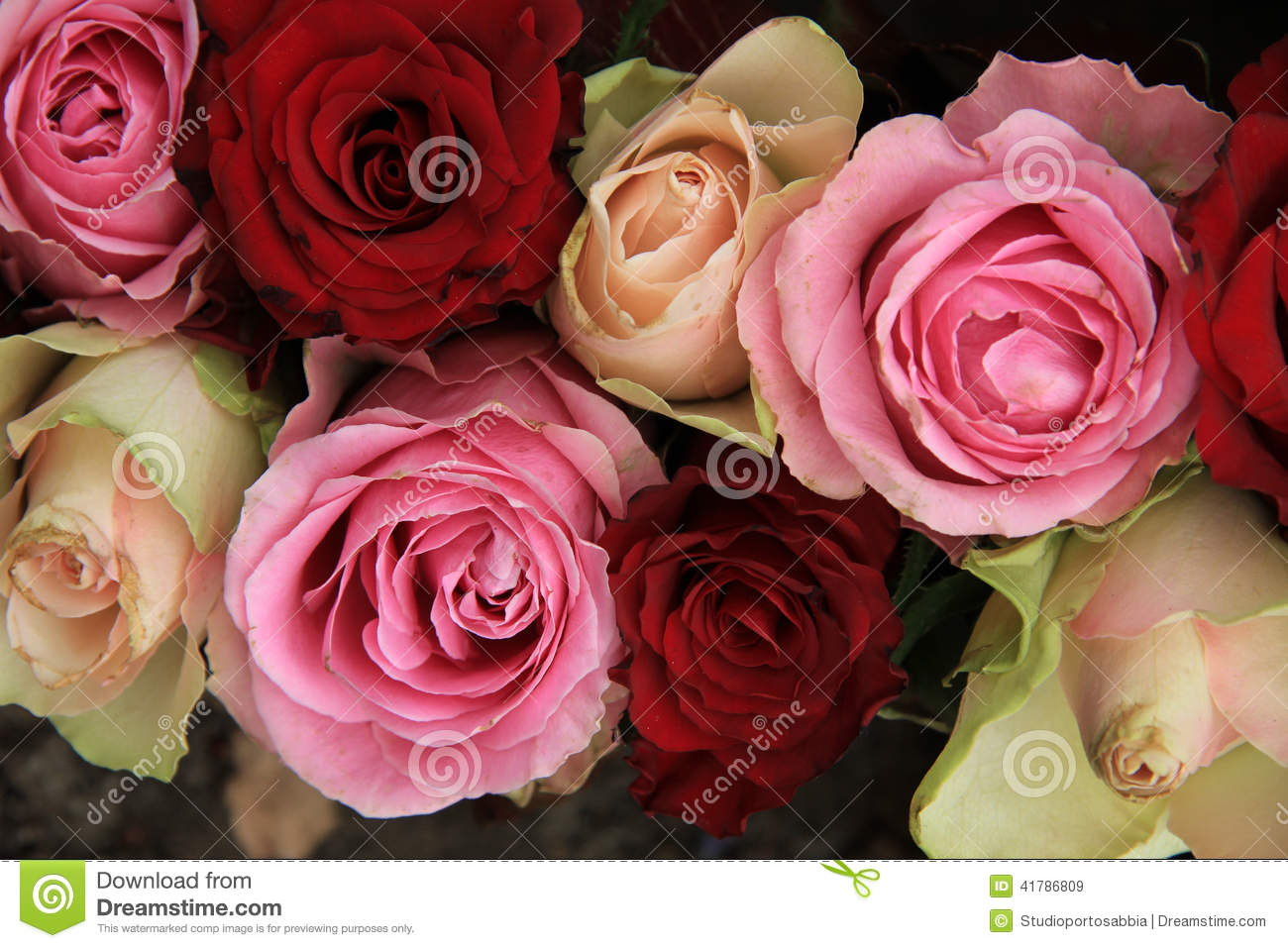 Wedding Flowers In Pink And Red Stock Image - Image of centerpiece ...