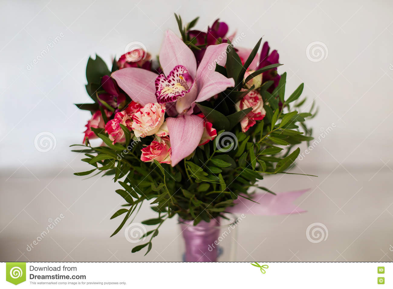 Wedding Flowers Wedding Bouquet Of Red And Pink Peach Yellow Ro