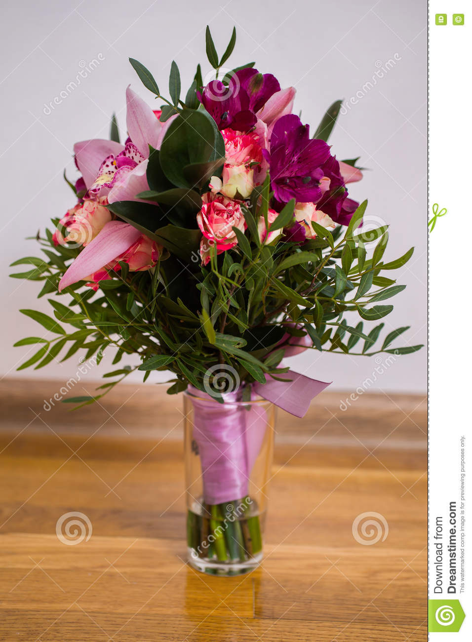 Beautiful Bouquet Red Violet Purple Flowers, Roses ... Red Violet Flowers