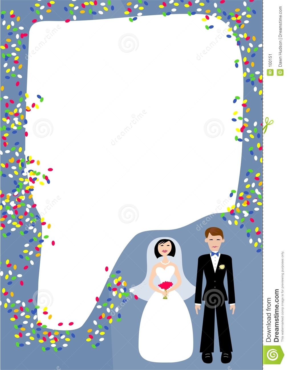 Wedding Frame stock vector. Illustration of border, events - 100151