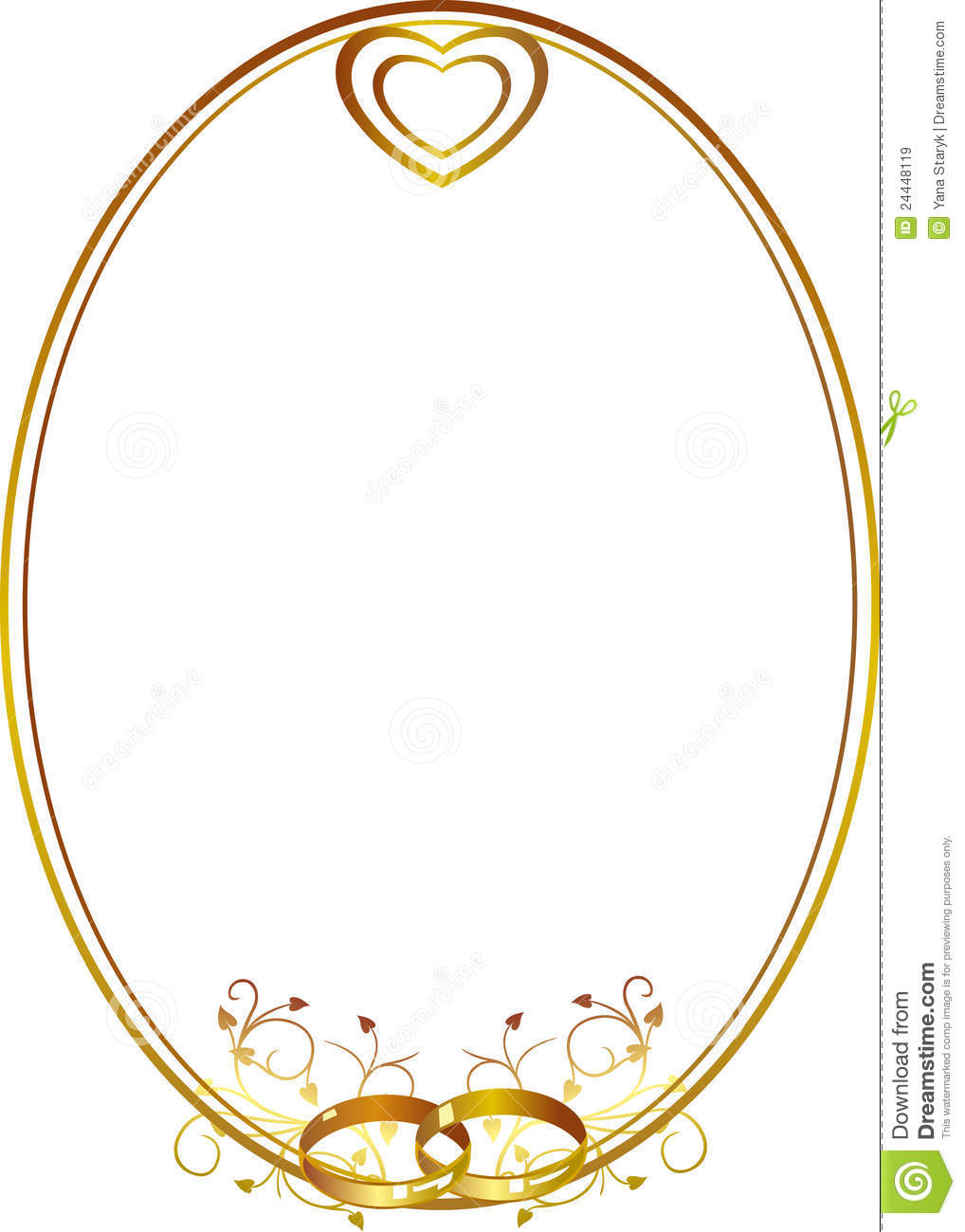 wedding frame with heart