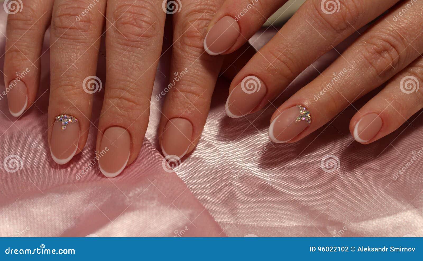 Wedding French Manicure Design Stock Photo - Image of bride, beauty ...