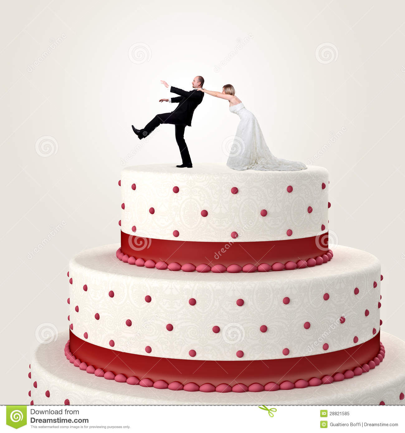 Wedding Funny Cake Stock Image Image Of Topper Cake