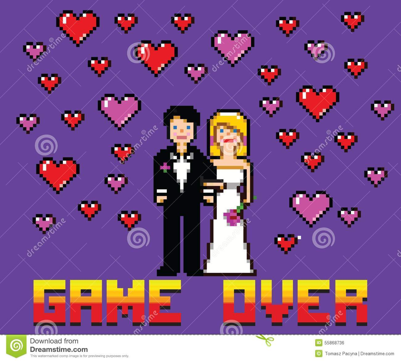Game Over Wedding Stock Illustrations 71 Game Over Wedding Stock Illustrations Vectors Clipart Dreamstime