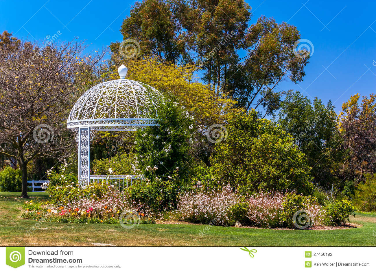 Wedding Gazebo Atsouth Coast Botanic Garden Stock Photo Image 27450182