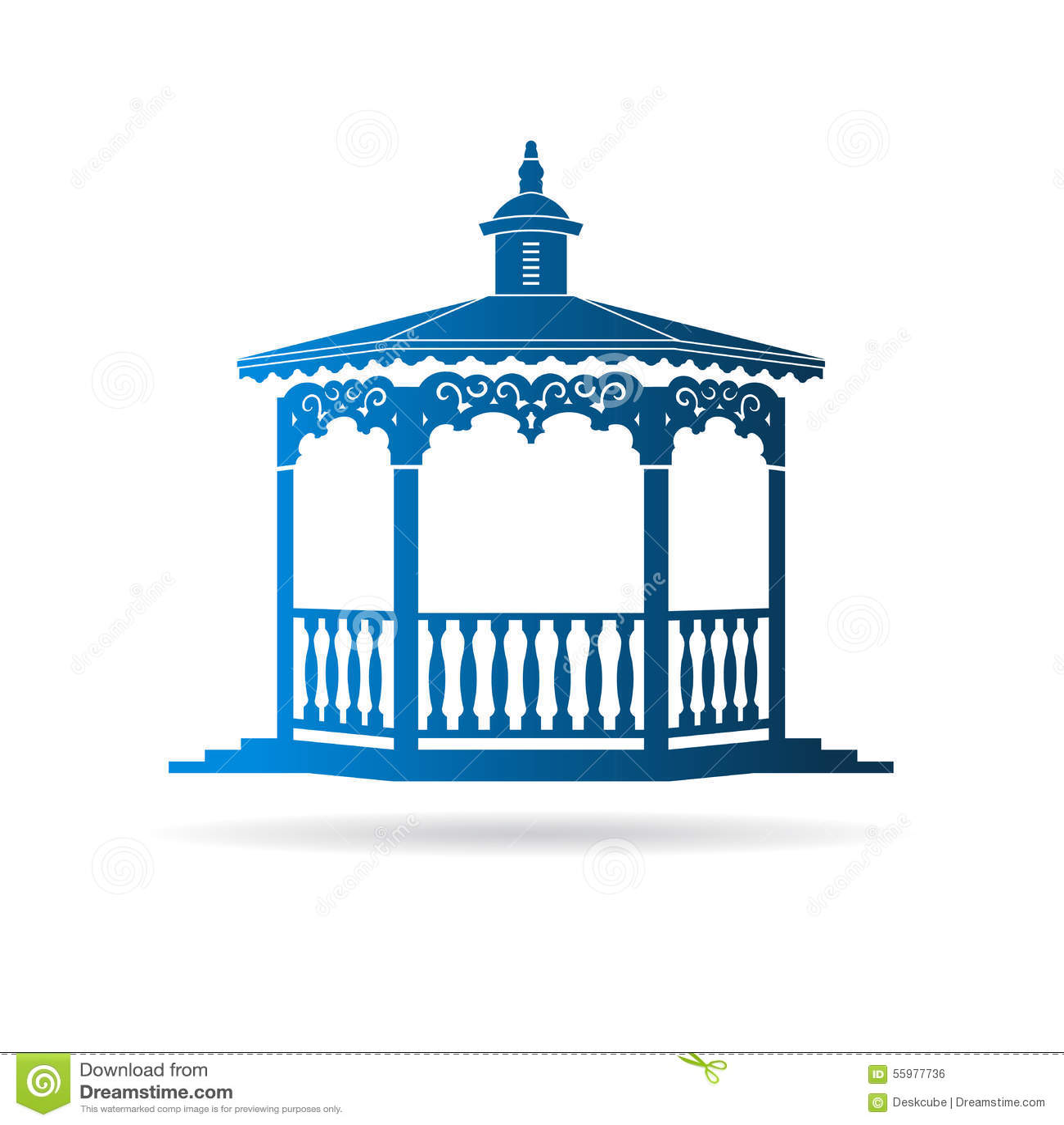 Wedding Gazebo Logo Stock Vector Illustration Of Home 55977736