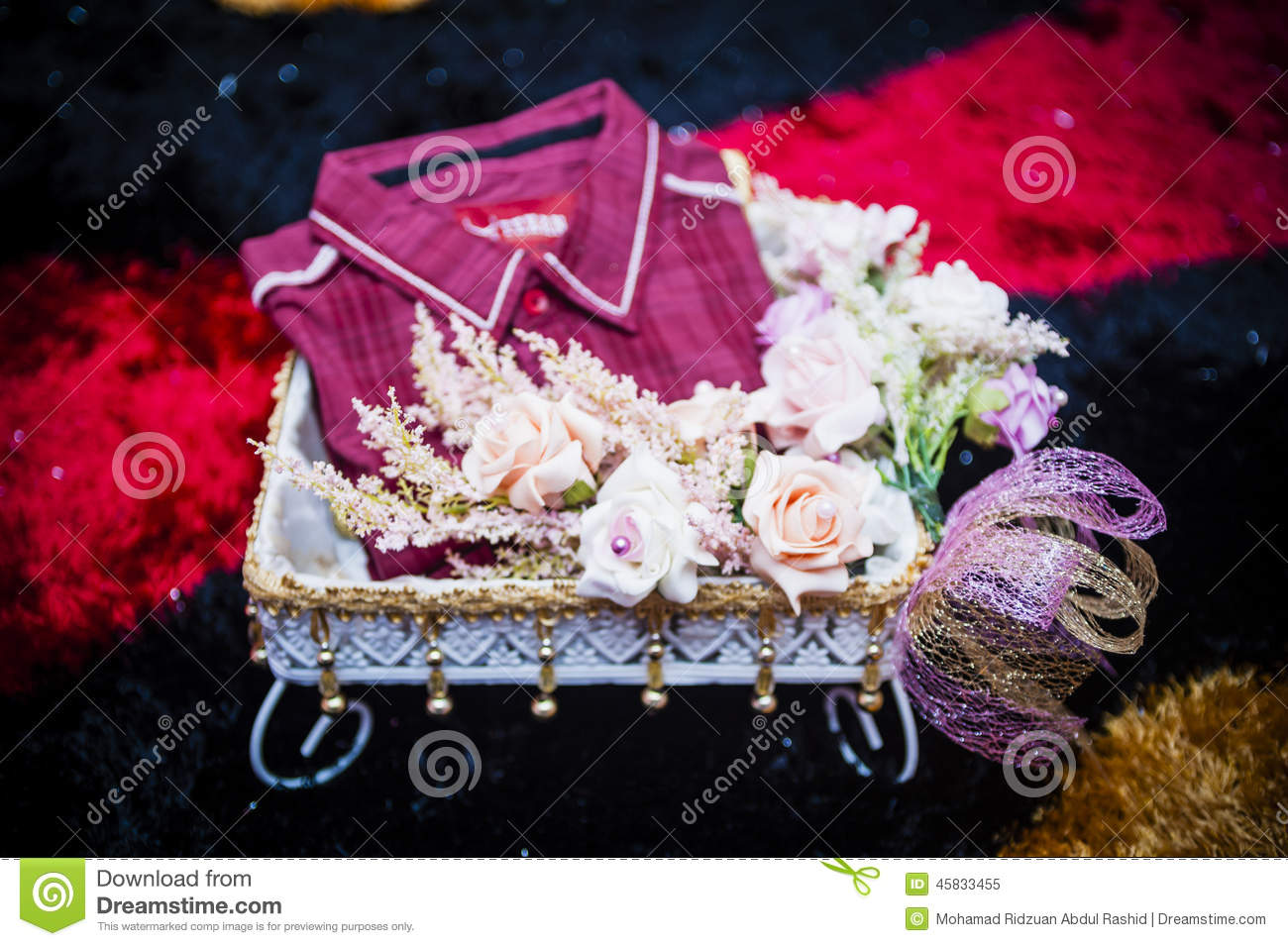 Wedding Couple Gift Exchange : Wedding Gift Decoration Stock PhotoImage: 45833455