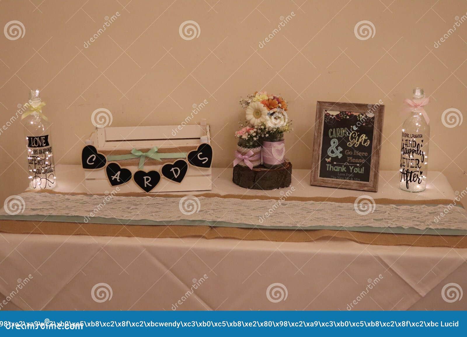 Wedding Gift Table Ideas Stock Photo Image Of Bottles 129456856