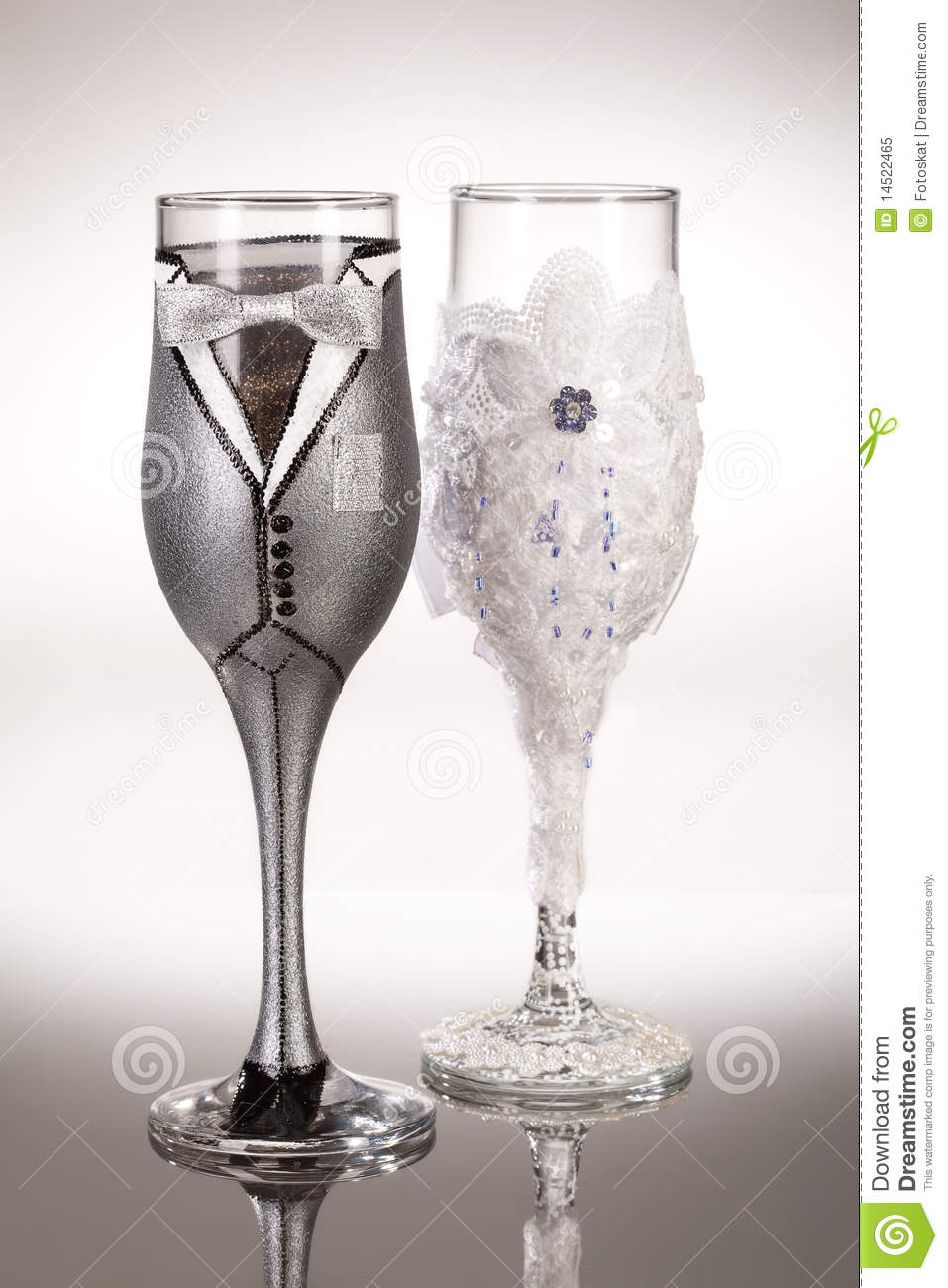 Wedding Glasses Stock Image Image Of Decor Accessories 14522465