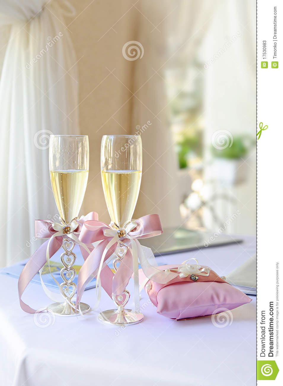 Wedding Glasses Stock Image Image Of Flowers Bridal