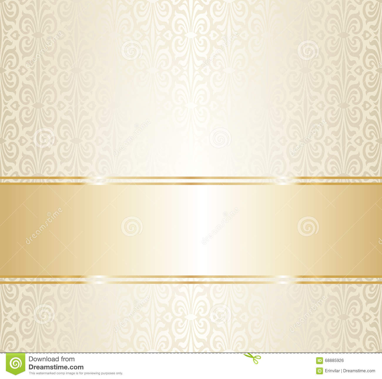 Wedding gold repetitive wallpaper design blank space for text