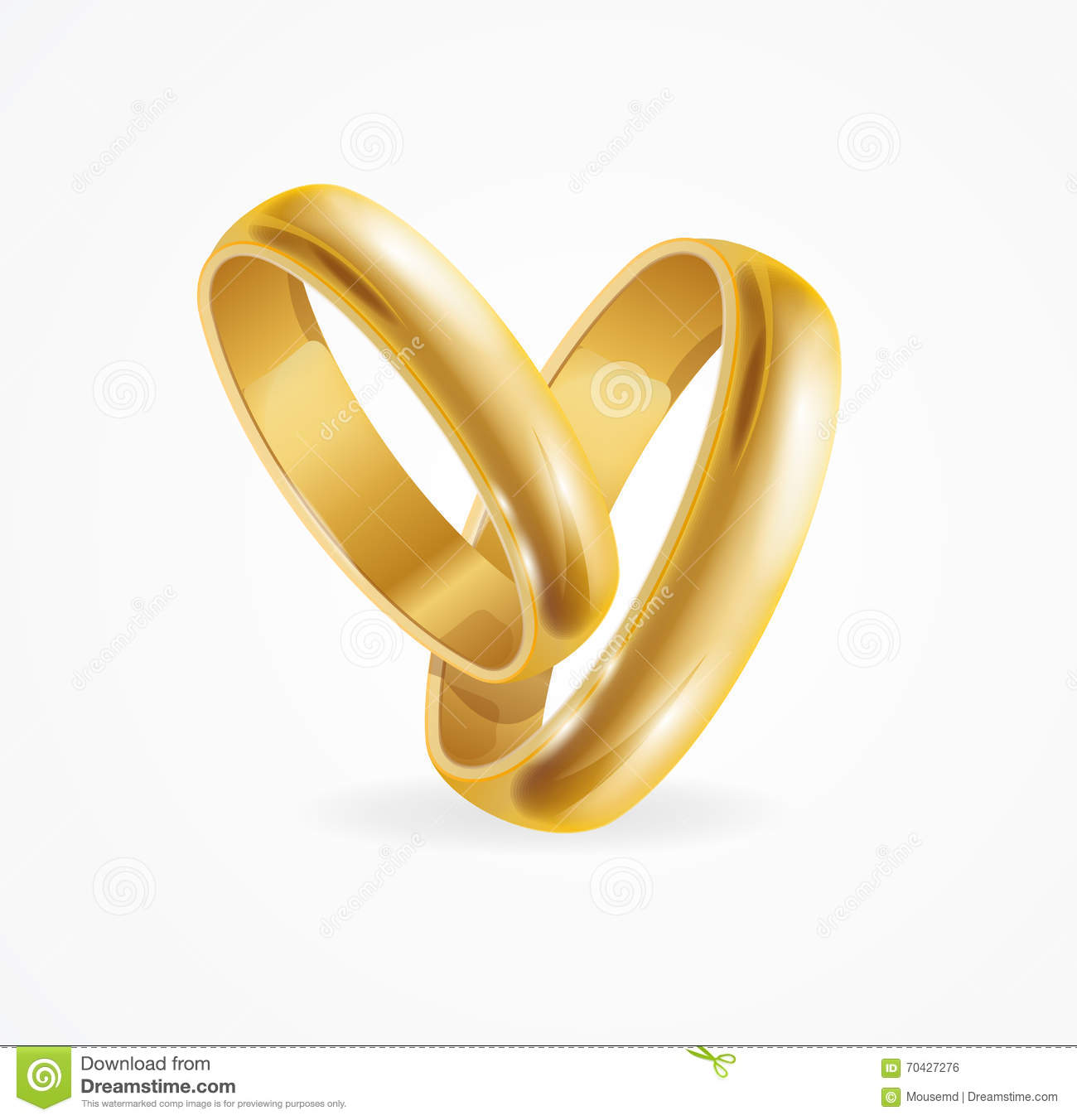 Wedding Gold Ring. Vector stock vector. Illustration of jewelry ...